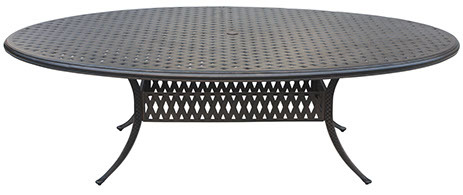 """100"""" x 70"""" Oval Egg Dining Table Weave"""