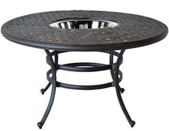 """52"""" Round Dining Table Weave (Ice Bucket or Fire Pit Optional)"""