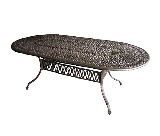 """84"""" x 42"""" Oval Dining Table Signature"""