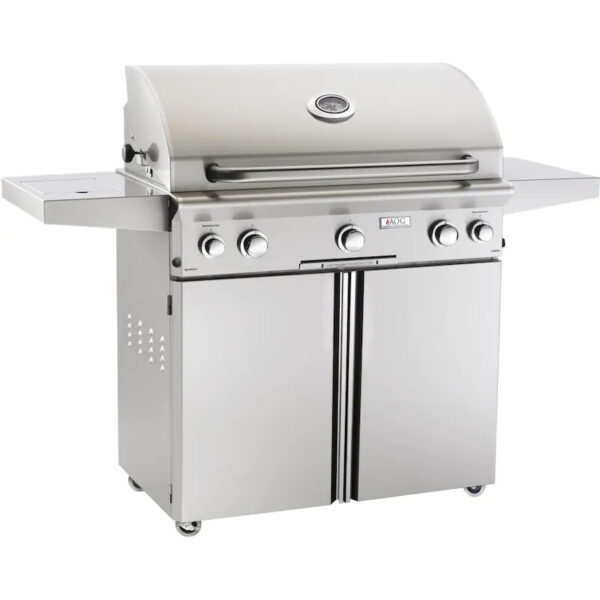 AOG L Series 36 Inch 3 Burner Freestanding Grill with Rotisserie Single Side Burner