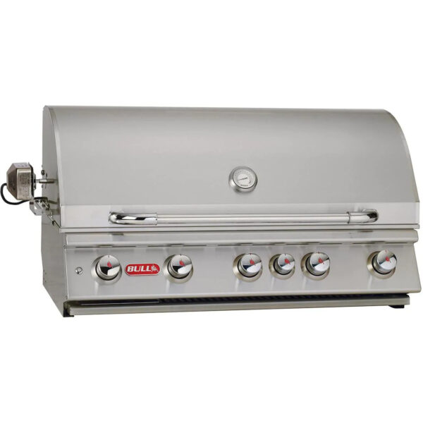 Bull Brahma 38 Inch 5 Burner Built In Gas Grill With Rotisserie