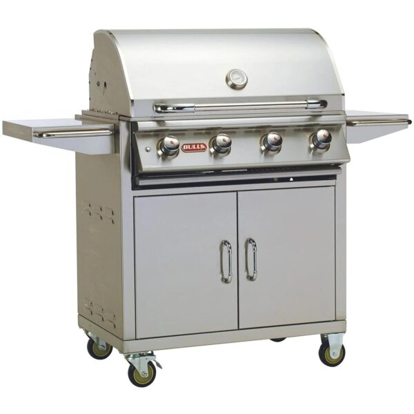 Bull Lonestar Select 30 Inch 4 Burner Gas Grill Cart