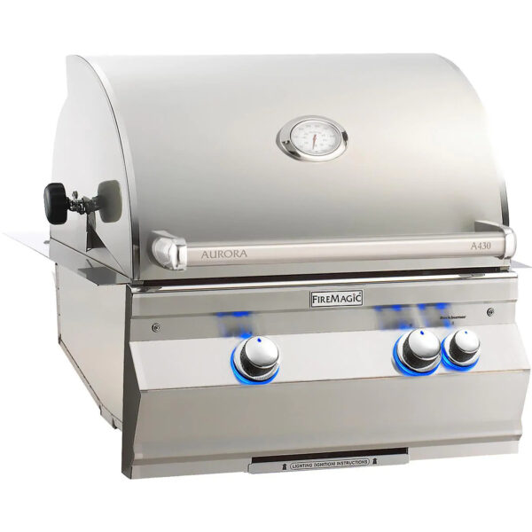 Fire Magic Aurora A430I 24 Inch Built In Gas Grill With Rotisserie
