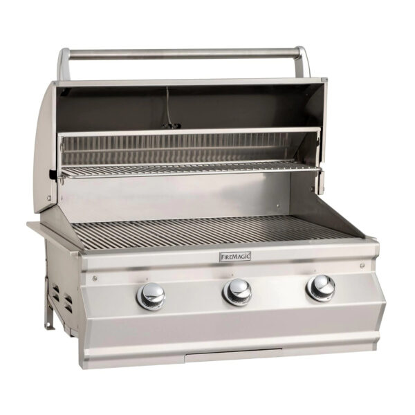 Fire Magic Choice C540I 30 Inch Built In Gas Grill Open