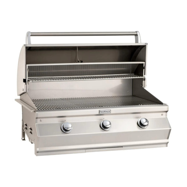 Fire Magic Choice C650I 36 Inch Built In Gas Grill Open