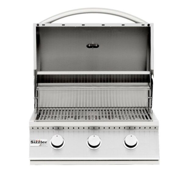 Summerset Sizzler 26 Inch 3 Burner Built In Gas Grill Open