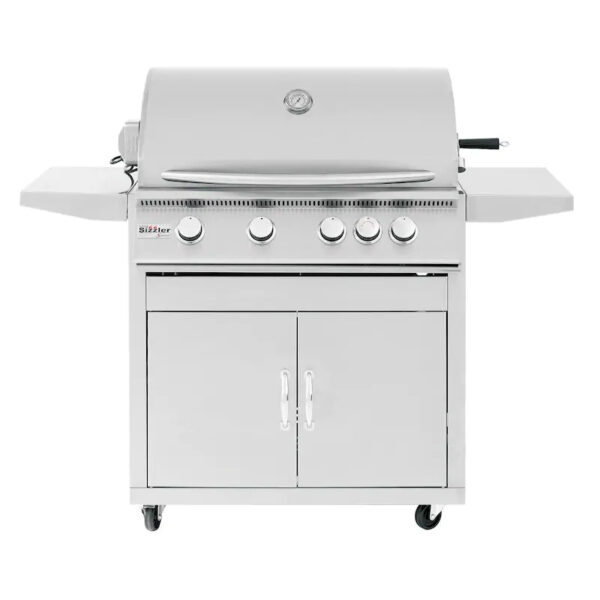 Summerset Sizzler 32 Inch 4 Burner Gas Grill With Rear Infrared Burner