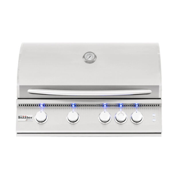 Summerset Sizzler Pro 32 Inch 4 Burner Built In Gas Grill With Rear Infrared Burner