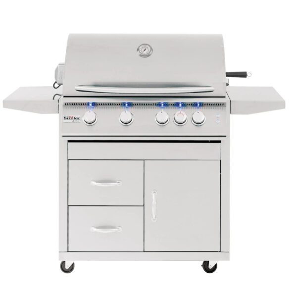 Summerset Sizzler Pro 32 Inch 4 Burner Gas Grill With Rear Infrared Burner