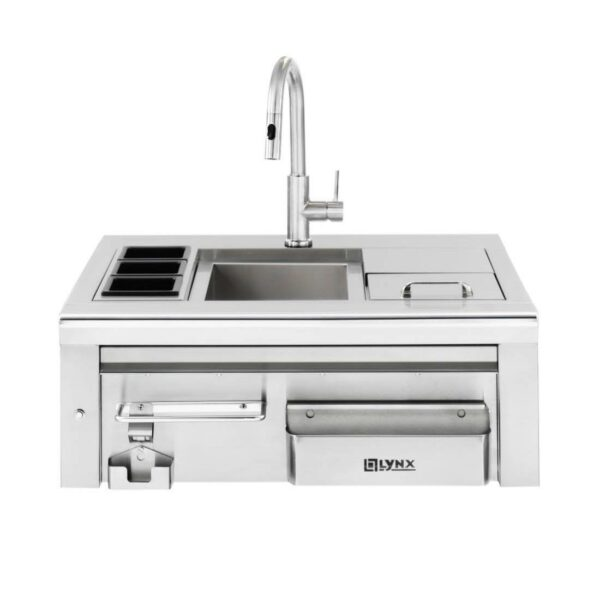 """Lynx 30"""" Built-In Cocktail Station With Sink & Ice Bin Cooler"""
