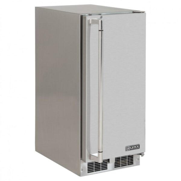 """Lynx 39 Lb. 15"""" Outdoor Rated Ice Machine - Stainless Steel - Right Hinged"""